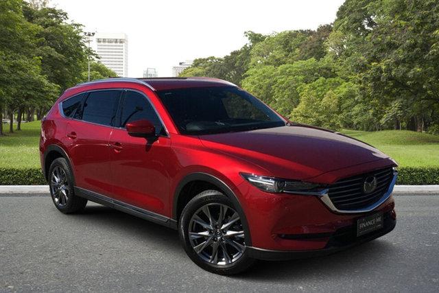 Used Mazda CX-8 KG4W2A Asaki SKYACTIV-Drive i-ACTIV AWD Paradise, 2019 Mazda CX-8 KG4W2A Asaki SKYACTIV-Drive i-ACTIV AWD Red 6 Speed Sports Automatic Wagon