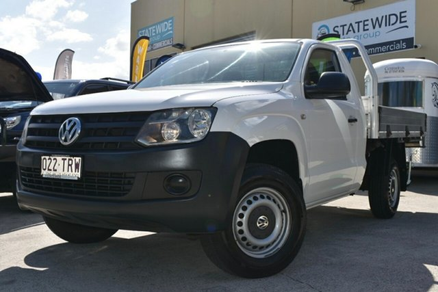 Used Volkswagen Amarok 2H MY13 TSI 300 Runner SE Capalaba, 2013 Volkswagen Amarok 2H MY13 TSI 300 Runner SE White 6 Speed Manual Cab Chassis