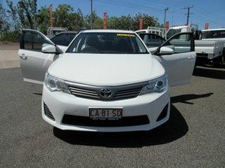2013 Toyota Camry Altise White 5 Speed Automatic Sedan.