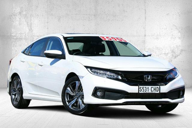 Used Honda Civic 10th Gen MY20 VTi-LX Valley View, 2020 Honda Civic 10th Gen MY20 VTi-LX Platinum White 1 Speed Constant Variable Sedan