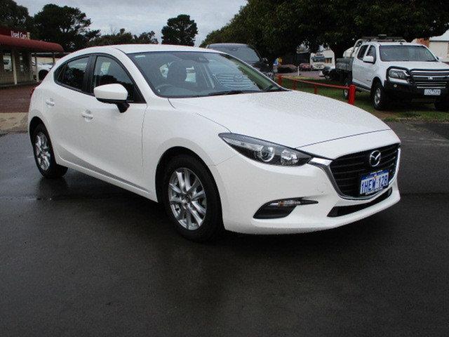 Used Mazda 3 BM MY15 Neo Katanning, 2016 Mazda 3 BM MY15 Neo White 6 Speed Manual Hatchback