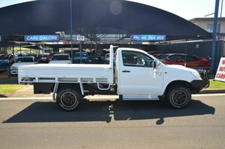 2014 Toyota Hilux KUN26R MY12 SR (4x4) White 5 Speed Manual Cab Chassis.