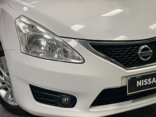 2015 Nissan Pulsar C12 Series 2 ST-L White 1 Speed Constant Variable Hatchback.