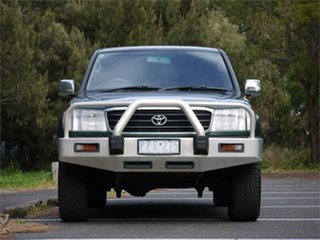 1999 Toyota Landcruiser HZJ105R GXL Green 4 Speed Automatic Wagon.