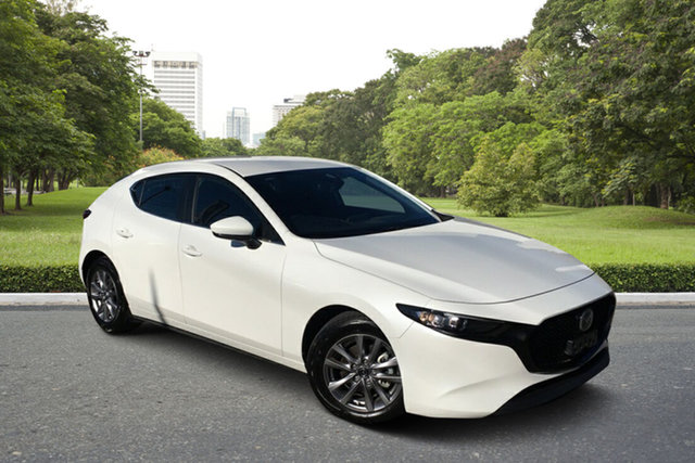 Used Mazda 3 BP2H7A G20 SKYACTIV-Drive Pure Paradise, 2019 Mazda 3 BP2H7A G20 SKYACTIV-Drive Pure White 6 Speed Sports Automatic Hatchback