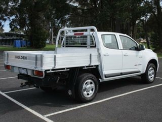 2012 Holden Colorado RG Turbo LX (4x4) White Manual Cab Chassis.