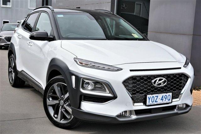 Demo Hyundai Kona OS.3 MY20 Highlander TTR (FWD) Phillip, 2020 Hyundai Kona OS.3 MY20 Highlander TTR (FWD) Chalk White & Phantom Black Roof 6 Speed Automatic