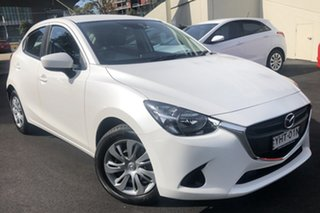 2017 Mazda 2 DJ MY17 Neo White 6 Speed Automatic Hatchback.