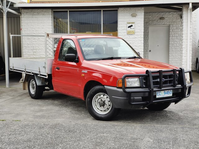 Used Ford Courier PE GL 4x2 Derwent Park, 1999 Ford Courier PE GL 4x2 Red 5 Speed Manual Cab Chassis