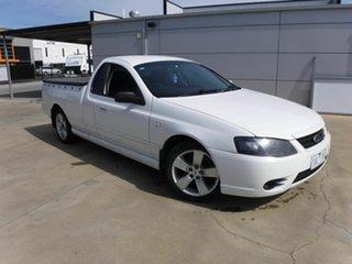 2006 Ford Falcon BF Mk II XLS Ute Super Cab White 4 Speed Sports Automatic Utility.