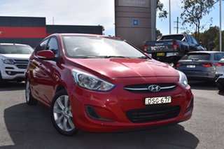 2017 Hyundai Accent RB5 MY17 Sport Red 6 Speed Manual Hatchback.