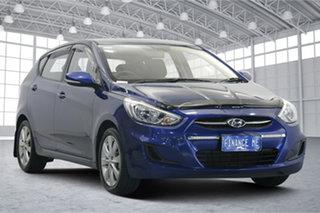 2017 Hyundai Accent RB5 MY17 Sport Dazzling Blue 6 Speed Manual Hatchback.