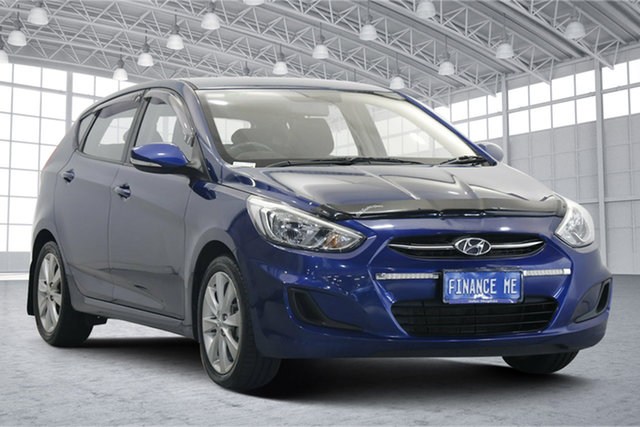 Used Hyundai Accent RB5 MY17 Sport Victoria Park, 2017 Hyundai Accent RB5 MY17 Sport Dazzling Blue, Pearl 6 Speed Manual Hatchback