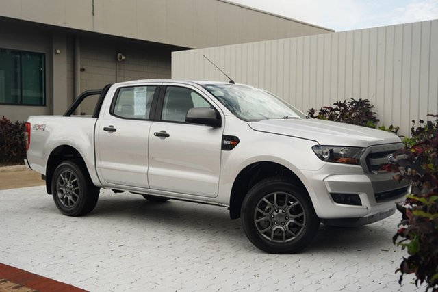 Used Ford Ranger PX MkII 2018.00MY XLS Double Cab Cairns, 2018 Ford Ranger PX MkII 2018.00MY XLS Double Cab Silver 6 Speed Sports Automatic Utility