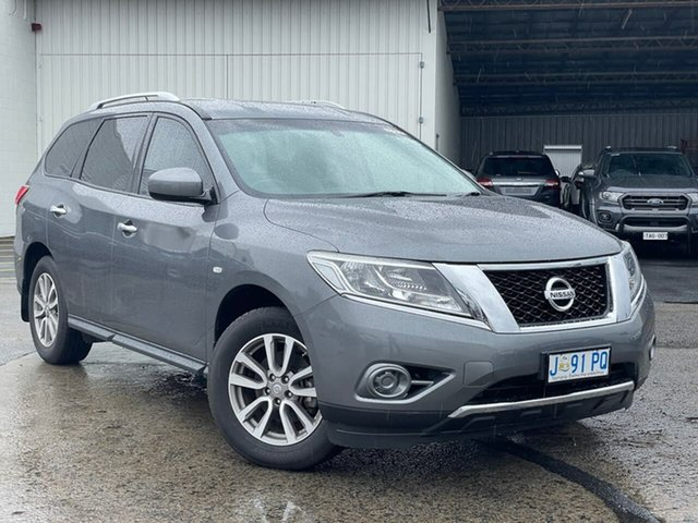 Used Nissan Pathfinder R52 MY15 ST X-tronic 2WD Moonah, 2015 Nissan Pathfinder R52 MY15 ST X-tronic 2WD Grey 1 Speed Constant Variable Wagon