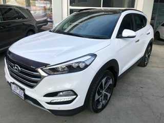 2016 Hyundai Tucson TLe MY17 Highlander AWD White 6 Speed Sports Automatic Wagon.