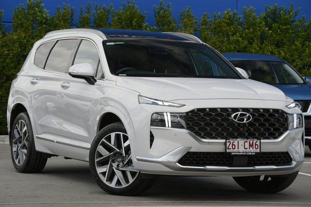 Used Hyundai Santa Fe Tm.v3 MY21 Highlander DCT Aspley, 2020 Hyundai Santa Fe Tm.v3 MY21 Highlander DCT White 8 Speed Sports Automatic Dual Clutch Wagon