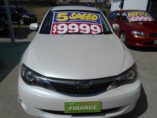 2007 Subaru Impreza G3 MY08 RS AWD White 5 Speed Manual Hatchback.