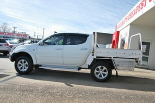 2014 Mitsubishi Triton MN MY14 Update GLX-R (4x4) White 5 Speed Automatic 4x4 Double Cab Utility.