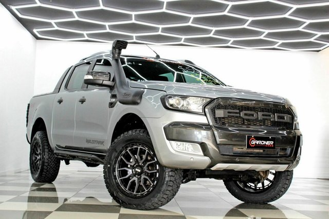 Used Ford Ranger PX MkII Wildtrak 3.2 (4x4) Burleigh Heads, 2016 Ford Ranger PX MkII Wildtrak 3.2 (4x4) Grey 6 Speed Automatic Dual Cab Pick-up