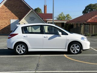 2012 Nissan Tiida C11 S4 TI White 4 Speed Automatic Hatchback.