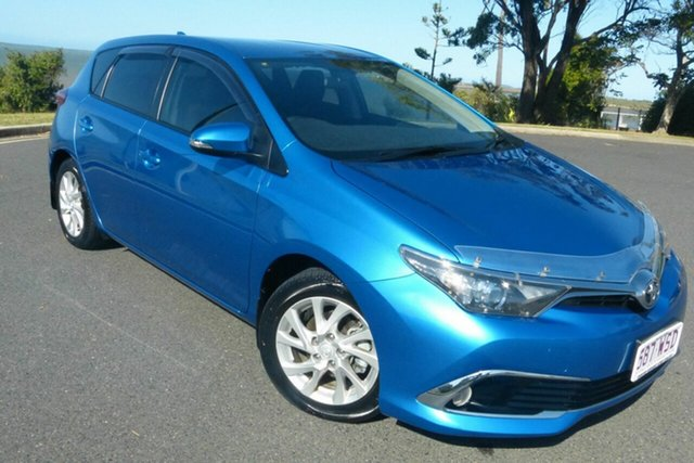 Used Toyota Corolla ZRE182R Ascent Sport Gladstone, 2016 Toyota Corolla ZRE182R Ascent Sport Blue 6 Speed Manual Hatchback