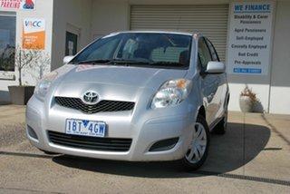 2010 Toyota Yaris NCP90R 10 Upgrade YR Silver 5 Speed Manual Hatchback.