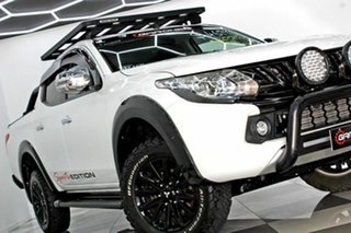 2017 Mitsubishi Triton MQ MY18 GLS (4x4) Sports Edt White 5 Speed Automatic Dual Cab Utility.