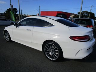 2016 Mercedes-Benz C-Class C205 C300 7G-Tronic + White 7 Speed Sports Automatic Coupe.