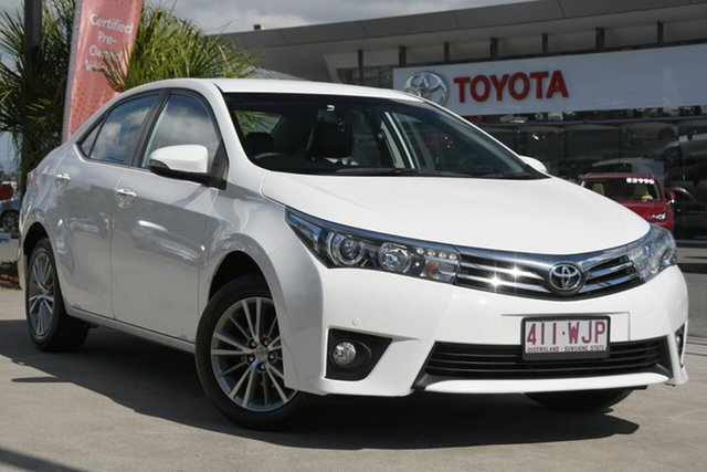 Pre-Owned Toyota Corolla ZRE172R ZR S-CVT North Lakes, 2015 Toyota Corolla ZRE172R ZR S-CVT Glacier White 7 Speed Constant Variable Sedan