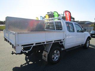 2011 Nissan Navara D40 MY11 ST White 6 Speed Manual Utility