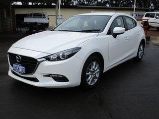 2016 Mazda 3 BM MY15 Neo White 6 Speed Manual Hatchback.