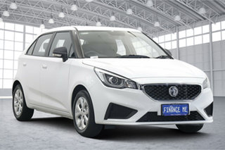 2021 MG MG3 SZP1 MY21 Core Dover White 4 Speed Automatic Hatchback.