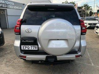 2018 Toyota Landcruiser Prado GDJ150R MY17 VX (4x4) Silver Pearl 6 Speed Automatic Wagon.