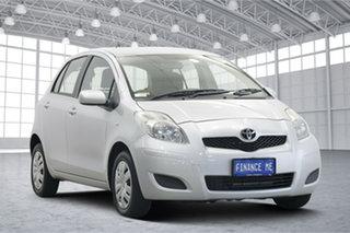 2010 Toyota Yaris NCP90R MY10 YR Silver 5 Speed Manual Hatchback.