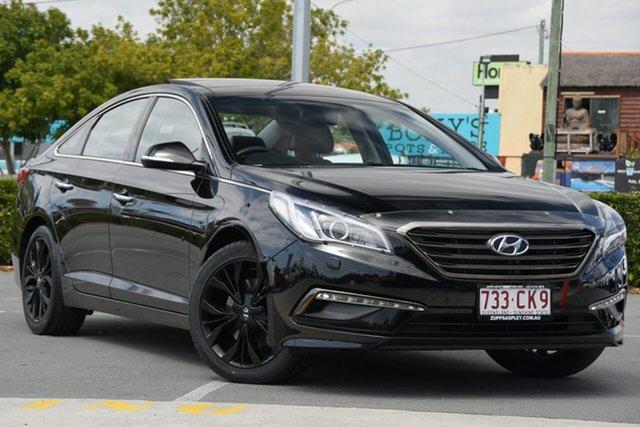 Used Hyundai Sonata LF MY16 Premium Aspley, 2016 Hyundai Sonata LF MY16 Premium Black 6 Speed Sports Automatic Sedan