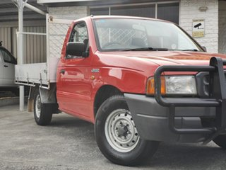 1999 Ford Courier PE GL 4x2 Red 5 Speed Manual Cab Chassis.