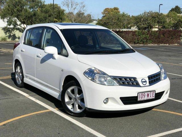 Used Nissan Tiida C11 S4 TI Chermside, 2012 Nissan Tiida C11 S4 TI White 4 Speed Automatic Hatchback