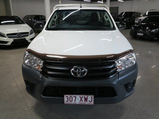 2018 Toyota Hilux TGN121R Workmate 4x2 White 6 Speed Sports Automatic Cab Chassis.