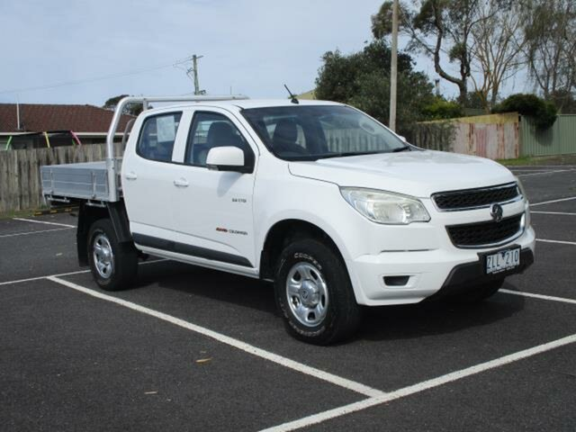 Used Holden Colorado LX (4x4) Timboon, 2012 Holden Colorado RG Turbo LX (4x4) White Manual Cab Chassis