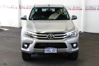 2018 Toyota Hilux GUN126R MY17 SR5 (4x4) Silver Sky 6 Speed Automatic Dual Cab Utility.
