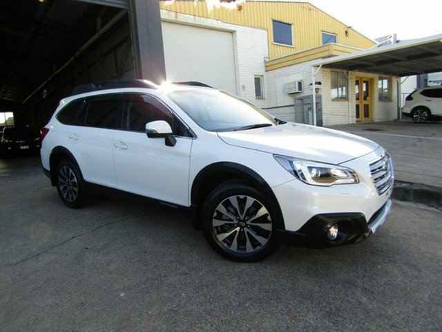 Used Subaru Outback B6A MY16 2.5i CVT AWD Premium Moorooka, 2016 Subaru Outback B6A MY16 2.5i CVT AWD Premium White 6 Speed Constant Variable Wagon
