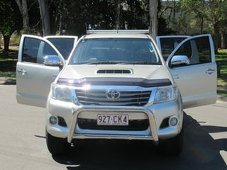 2013 Toyota Hilux KUN26R MY12 SR5 Double Cab Silver 4 Speed Automatic Utility