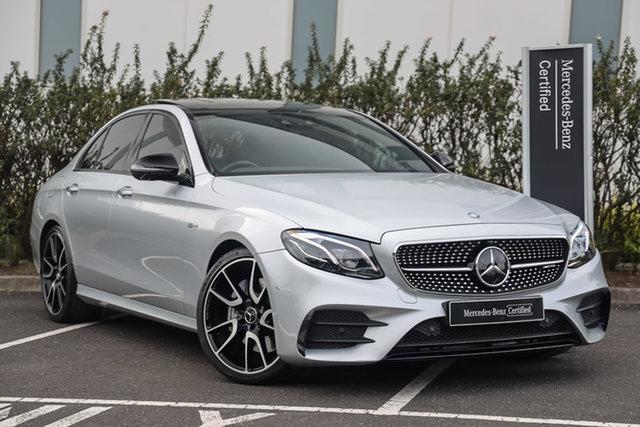 Certified Pre-Owned Mercedes-Benz E-Class W213 E43 AMG 9G-Tronic PLUS 4MATIC Mulgrave, 2017 Mercedes-Benz E-Class W213 E43 AMG 9G-Tronic PLUS 4MATIC Iridium Silver 9 Speed