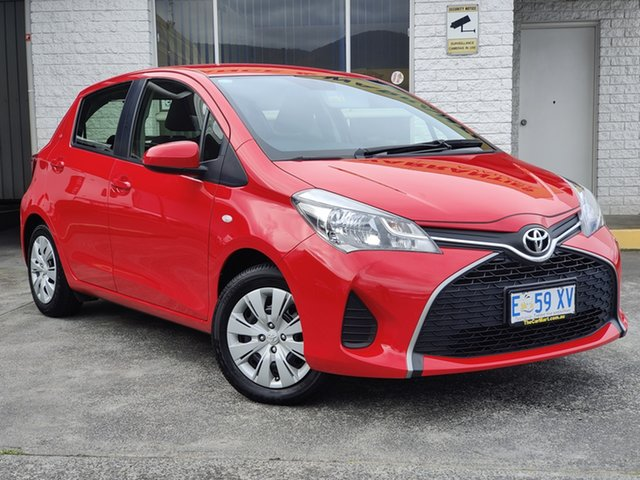Used Toyota Yaris NCP130R Ascent Derwent Park, 2016 Toyota Yaris NCP130R Ascent Red 4 Speed Automatic Hatchback