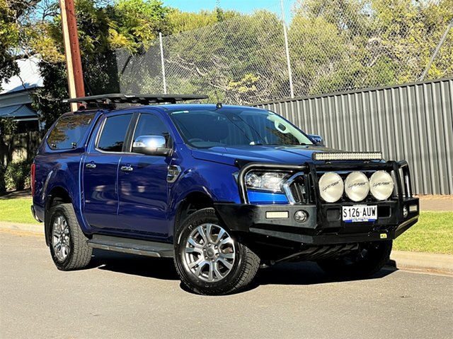 Used Ford Ranger PX MkII XLT Double Cab Hyde Park, 2016 Ford Ranger PX MkII XLT Double Cab Blue 6 Speed Sports Automatic Utility