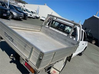 2007 Toyota Hilux TGN16R 07 Upgrade Workmate White 5 Speed Manual Dual Cab Pick-up