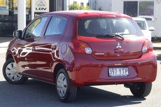 2013 Mitsubishi Mirage LA MY14 ES Planet Red 1 Speed Constant Variable Hatchback.