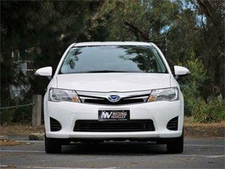 2014 Toyota Corolla NKE165 Axio White Constant Variable Sedan.