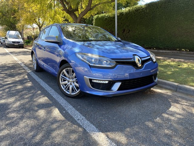 Pre-Owned Renault Megane III B95 Phase 2 GT-Line EDC Premium Hawthorn, 2014 Renault Megane III B95 Phase 2 GT-Line EDC Premium Blue 6 Speed Sports Automatic Dual Clutch